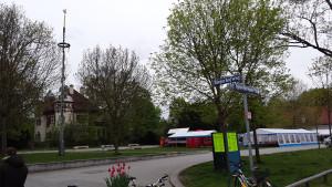 Maibaumfest in München-Laim